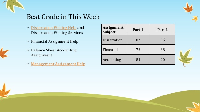 Dissertation consultation services on financial
